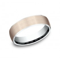 BENCHMARK Mens Two-Tone Wedding Band EUCF2165031
