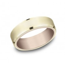 BENCHMARK Mens Two-Tone Wedding Band RIRCF8565335RY