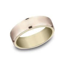 BENCHMARK Mens Two-Tone Wedding Band RIRCF8665335RY
