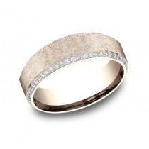 BENCHMARK Mens Rose Gold Wedding Band CF887070R