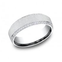 BENCHMARK Mens White Gold Wedding Band CF887070W