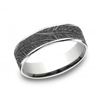 BENCHMARK Mens White Gold Wedding Band CFT8065651W
