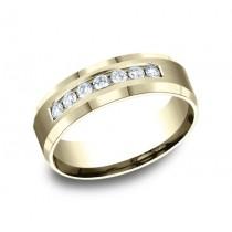BENCHMARK Mens Yellow Gold Wedding Band CF527149Y