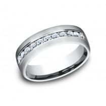 BENCHMARK Mens White Gold Wedding Band CF717538W