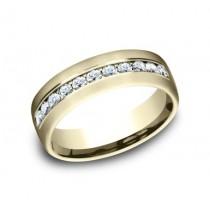 BENCHMARK Mens Yellow Gold Wedding Band CF717538Y