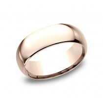 BENCHMARK Mens Rose Gold Wedding Band LCF180R