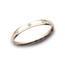 BENCHMARK Ladies Rose Gold Wedding Band LCF120DR