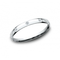 BENCHMARK Ladies White Gold Wedding Band LCF120DW