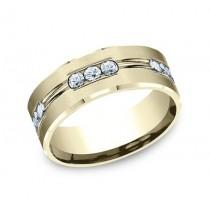 BENCHMARK Mens 14k Yellow Gold Wedding Band CF528533Y