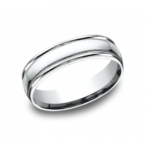 BENCHMARK Mens White Gold Wedding Band CF15608W
