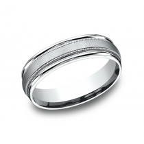 BENCHMARK Mens Platinum Wedding Band RECF7601SPT