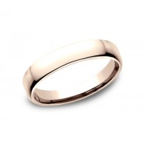 CLASSIC Mens 14k Rose Gold Wedding Band EUCF145R