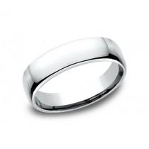 CLASSIC Mens 14k White Gold Wedding Band EUCF155W