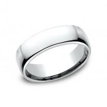 CLASSIC Mens 14k White Gold Wedding Band EUCF165W