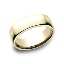 CLASSIC Mens 14k Yellow Gold Wedding Band EUCF175Y
