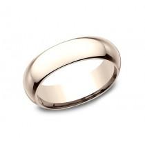 CLASSIC Mens 14k Rose Gold Wedding Band HDCF160R