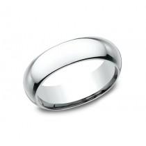 CLASSIC Mens 14k White Gold Wedding Band HDCF160W