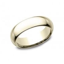 CLASSIC Mens 14k Yellow Gold Wedding Band HDCF160Y