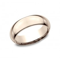 CLASSIC Mens Rose Gold Wedding Band HDCF170R