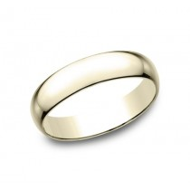 CLASSIC Mens 14k Yellow Gold Wedding Band L150Y