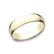 CLASSIC Mens 14k Yellow Gold Wedding Band L160Y