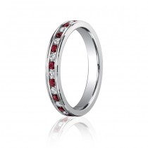 3.5mm Ruby & Diamond Eternity Band