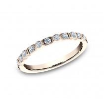 BENCHMARK Ladies 14k Rose Gold Wedding Band 5225690R