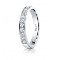 3mm Flat Partial Diamond Channel Band