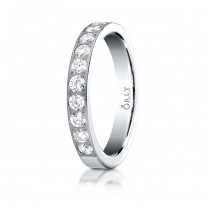 3mm Flat Partial Diamond Band