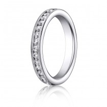 14kw Diamond Millgrain Eternity Band 4mm