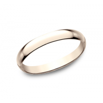CLASSIC Mens 14k Rose Gold Wedding Band 125R