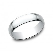 CLASSIC Mens 14k White Gold Wedding Band 160W