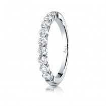 3mm Shared Prong Diamond Halfway Comfort Fit Band