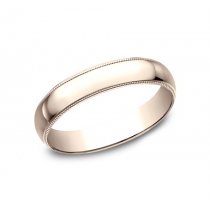 CLASSIC Mens Rose Gold Wedding Band 340R