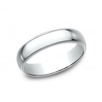 CLASSIC Mens 14k White Gold Wedding Band 350W