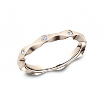 BENCHMARK Ladies Rose Gold Wedding Band 473681R