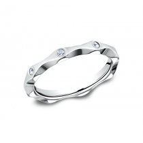 BENCHMARK Ladies White Gold Wedding Band 473681W