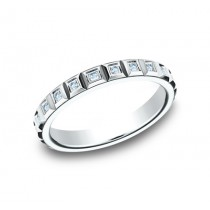 BENCHMARK Ladies White Gold Wedding Band 473682W