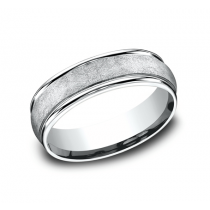 BENCHMARK Mens Platinum Wedding Band RECF86585PT