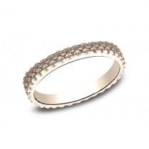 BENCHMARK Ladies 14k Rose Gold Wedding Band 8425688R