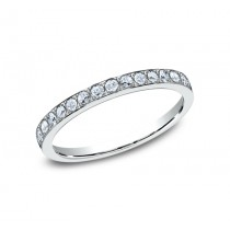 BENCHMARK Ladies 14k White Gold Wedding Band 522721HFW