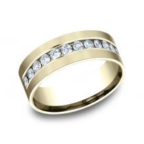BENCHMARK Mens Yellow Gold Wedding Band CF528531Y