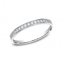 BENCHMARK Ladies 14k White Gold Wedding Band 522800W