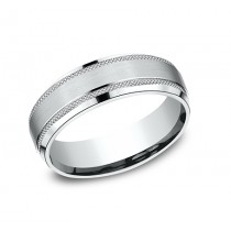 BENCHMARK Mens Palladium Wedding Band CF665321PD