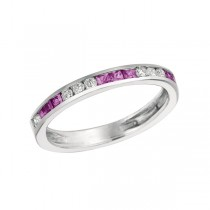 Pink Sapphires & Diamonds Band