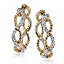18k Gold Two-Tone LE4556-R Hoop Earring