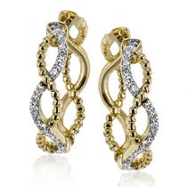 18k Gold Two-Tone LE4556-Y Hoop Earring