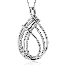 18K GOLD WHITE LP2393 PENDANT