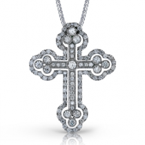 18K GOLD WHITE LP4075 CROSS PENDANT