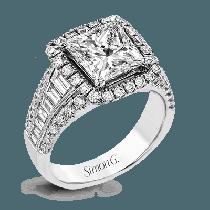 18K GOLD WHITE LR1164-PC ENGAGEMENT RING